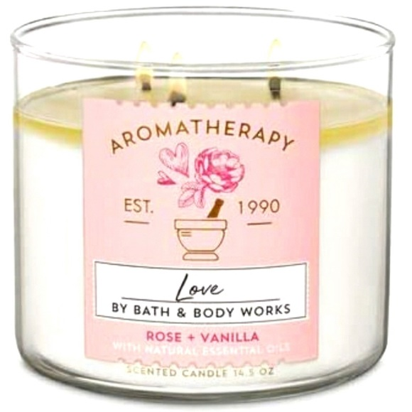 Bath and Body Works Aromatherapy Love Candle